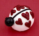 Hulet Glass White Chocolate Lady Bug Love Heart Glass Treat 22 090WH