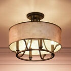 Luxury Moroccan Semi-Flush Ceiling Light, 11.5'H X 15.75'W, With Craftsman