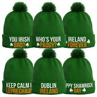 Ireland Bobble Beanie Hat - 12 Designs - St Patricks Day Gift Ireland Rugby B52