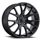 Fit 20 Hellcat Style Wheels Rims Satin Black For 99 21 Jeep Grand Cherokee