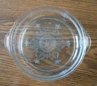 Vintage Anchor Hocking Philbe clear pie plate and individual casserole dish
