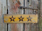 VINTAGE HANDMADE  RUSTIC COUNTRY WALL HANGING WITH HOOKS-PRIMITIVE NAILS