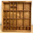 Vintage letterpress printer typeset drawer shadow box square shape