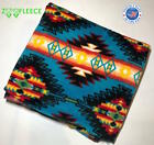 ZooFleece 55X60 Blue Aztec Pattern Native American Blanket Linen Throw Bedding