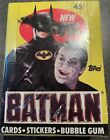 Vintage Topps Batman Movie Unopened Cards Stickers Bubble Gum Sealed Box 1989