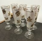 Hostess Glassware by Libbey Golden Foliage Glasses -- Lot of 6 Cups