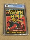 Luge Cage Hero for Hire 1 CGC 8.0 (1st app of Luke Cage 1975!!)