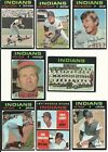 1971 Vintage Topps INDIANS partial team set 22 cards 5 RC VG