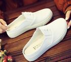 Womens Sneaker Tennis Girls Slipper Mule Casual Platform Canvas Lace Up Shoes