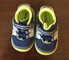 NWOT Surprize by Stride Rite Aston Navy Blue  Yellow Sneakers Toddler Size 3