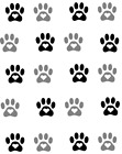 Dog Paws Waterslide Water Transfer Nail Decals Nail Art