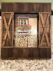Fabulous Wood Frame For 5x7 Photo Barn Doors Open And Close Rustic Decor