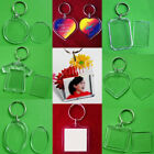 2x Acrylic Transparent Photo Picture Frame Keyring Keychain Key Ring Accessories