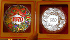 Vtg Hallmark TIFFANY CLASSICS 1979/1980 XMAS Wreath Acrylic Tree Ornaments MCM