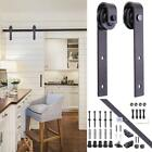 6 FT Sliding Barn Door Hardware Kit Track System Closet Antique Country Style MA