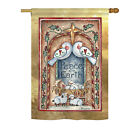 Peace on Earth Doves  Nativity Impressions Decorative House Flag H114125 BO