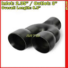 85in 235 Inlet 3 Outlet Dual Exit Weld On Right Exhaust Muscle Car Tip 232795