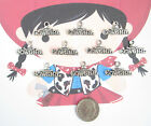 NEW 10 TIBET SILVER SINGLED SIDED COW GIRL CHARMS PENDANTS CUTE