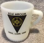 83d Arcom FIRE KING Coffee Mug ARMY US Military Advertising Stacking D Handle