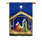 Nativity of Jesus Impressions Decorative House Flag H114214 BO
