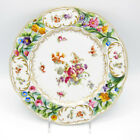 Antique Czechoslovakia Hand Painted, Open Work Border, Floral Plate Stunning!