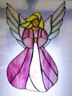 Pink Angel Stained Glass Sun Catcher Panel