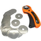 Bulk 10 5Pcs 45mm Carbon Steel Rotary Cutter Refill Blade Sewing Quilting Tools