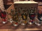 VINTAGE ANCHOR HOCKING 12 DAYS OF CHRISTMAS GLASSES WITH ORIGINAL BOX