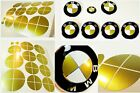 Bmw Gloss Emblem Sticker Overlay Complete Set Decal Multi Selection