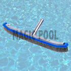 18 Pool Brush Algae Stainless Steel Bristles Aluminum Handle Cleaning Spa Pond