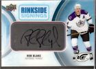 ROB BLAKE 2016-17 UD Ice RINKSIDE SIGNINGS AUTO Acetate L.A. Kings UD *