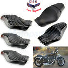 Custom Driver Passenger 2 Up Seat Harley Sportster XL883 1200 Iron 48 72 2005-13