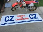 Vintage nos cz banner new motocross jawa mx twin side piper falta 125 250 400