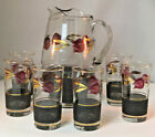 6 Highball Glasses Barware Set Hand Painted