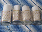 Georges Briard  Low Ball  Old Fashion Glasses Gold Diamonds
