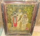 VINTAGE OLD COLLECTIBLE WALL HANGING LITHO PRINT OF SHREE LAXMI NARAYAN