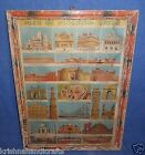VINTAGE WALL HANGING DECORATIVE COLLECTIBLE LITHO PRINT OF HISTORICAL PLACES