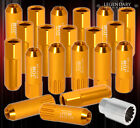 FOR SUZUKI 12MMX1.25 LOCKING LUG NUTS TRUCK SUV EXTERIOR 20 PCS WHEELS KIT GOLD