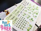 PP449A Green Headers Date Covers Planner Stickers for Erin Condren 52pcs