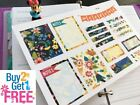 PP152 Floral Functional Boxes Life Planner Stickers for Erin Condren 17pcs