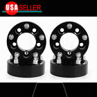 4Pcs 2 Thick 6x55 to 6x55 Black HubCentric Wheel Spacers For GMC Sierra 1500