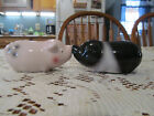 Kissing Pigs Salt and Pepper Shakers Magnet Noses Sleepy Eyes