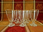 VINTAGE ANCHOR HOCKING BOOPIE-GOLD RIM 8 STEMMED BUBBLE BASE GOBLETS PREOWNED