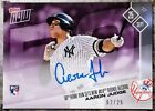 2017 Topps Now #654 Aaron Judge 50th Home Run Rookie Record Auto RC # 2- 25 ROY