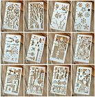 12 Pcs Drawing Painting Stencils Scale Template Sets for Loose Leaf A6 Bullet