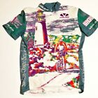 Vintage Mens 1997 Voler Short Sleeve Full Zip Up Cycling Jersey Size Small