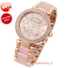 NEW Michael Kors MK5896 Parker Ladies Women Watch Rose Gold-Tone Crystal 39MM