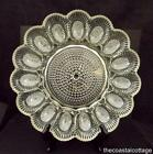 Vintage Clear Hobnail Deviled Egg Plate Indiana Glass 11