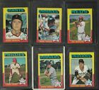 1975 TOPPS MINI ALL STAR LOT OF 6 DIFFERENT NM