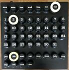 RING O DATE CALENDAR SPACE AGE MID CENTURY MODERN ITALY MCM Italian Umbo Kartell